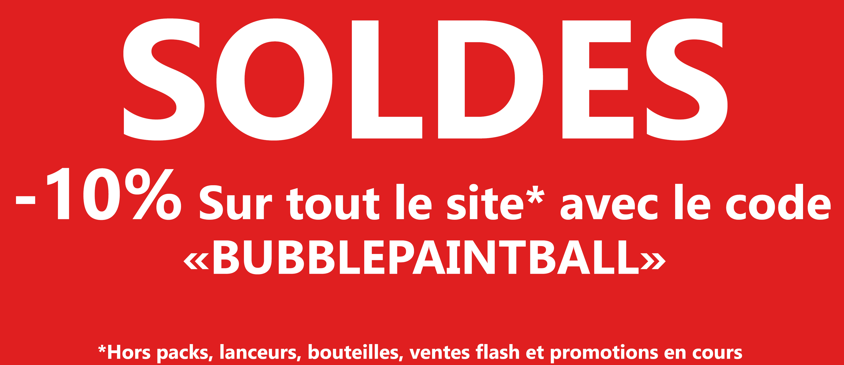 Soldes 10% paintball