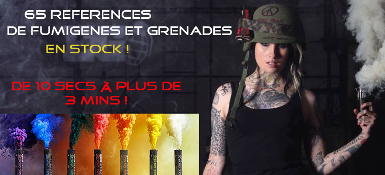 Fumigenes et grenade