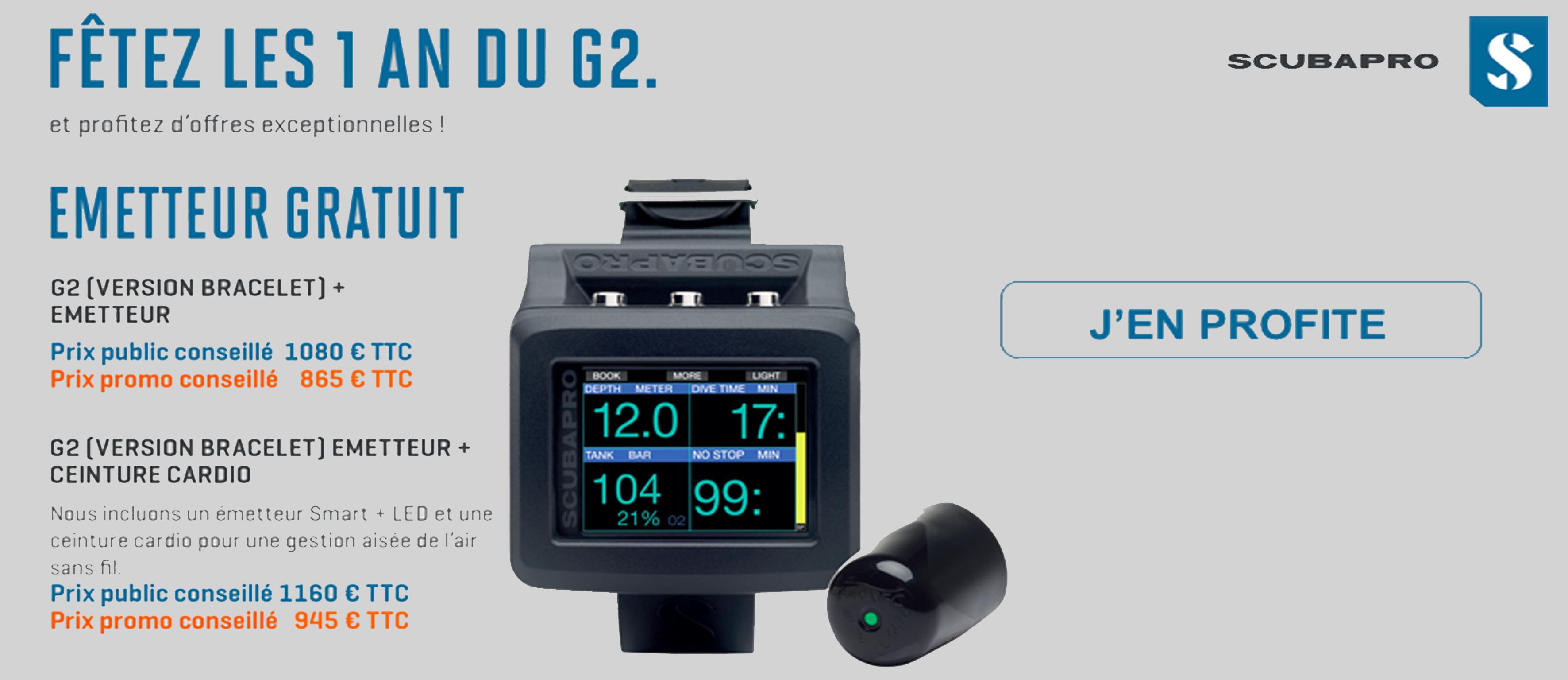 G2 scubapro sonde offerte