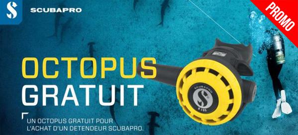 détendeur octopus offert scubapro
