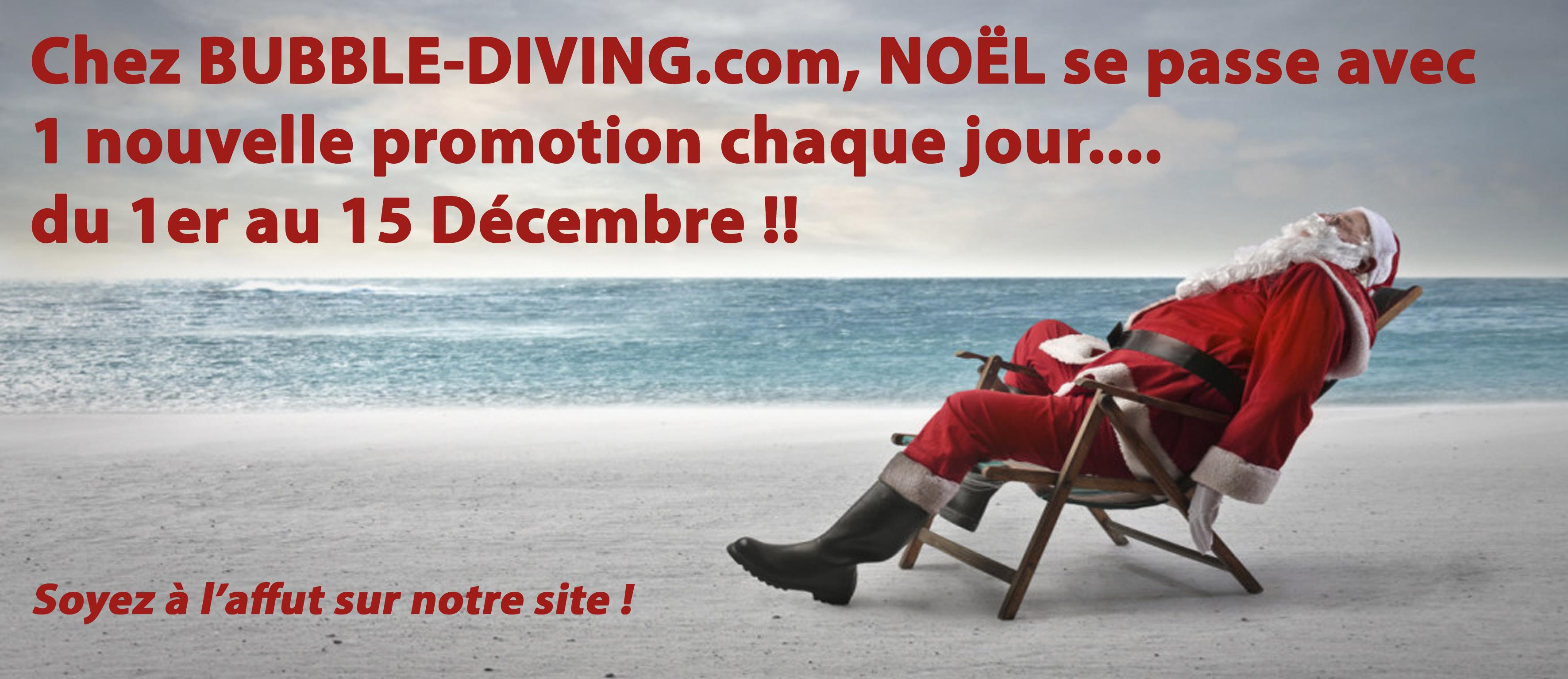offres noel bubble diving -matériel de plongée