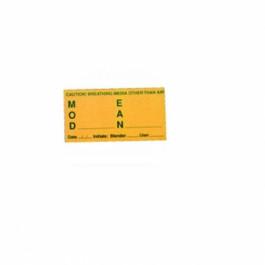 Autocollant Mélange Nitrox jaune vert