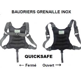 Baudrier souple QuickSafe en grenaille inox 4kg