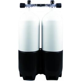 Bloc Bi Bouteille 2 x 8 litres Alu 230 Bar OMS