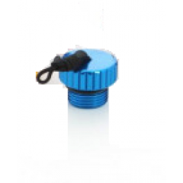 Bouchon Protection robinet DIN Alu  Bleu