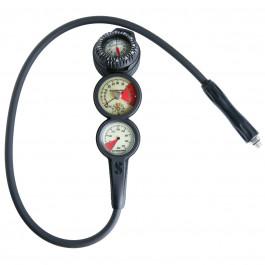 Console en ligne 3 instruments Analogique compas FS2