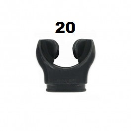 20 Embouts AQUALUNG Silicone Noir OFFRE CLUB