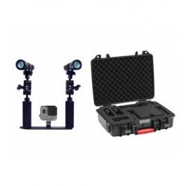 Ensemble Phares et Platine pour Camera GOPRO 1200XWP BIGBLUE