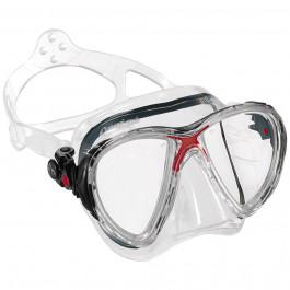 Masque Big Eyes Evolution -Silicone Transparent et marque Rouge