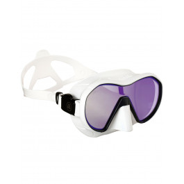 Masque de plongée VX1 APEKS Silicone Blanc et Verres fumés