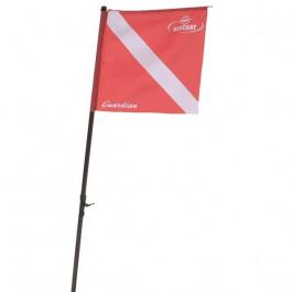 Mat et drapeau de signalisation pour planche Guardian
