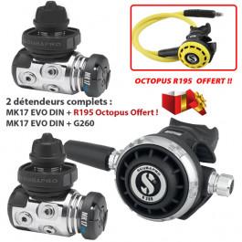 Pack NOEL MK17 EVO DIN G260 + MK17 EVO DIN + Octopus R195 Offert !