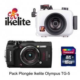 Pack plongée caisson IKELITE appareil photo Olympus TG5