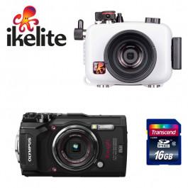 Pack plongée caisson IKELEITE appareil photo Olympus TG6