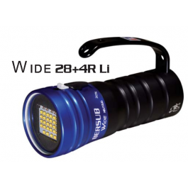 Phare WIDE 28 + 4 Rouges Lithium BERSUB