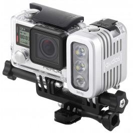Phare QUDOS argent 400 LUMENS pour Camera Embarquée-Offre spéciale