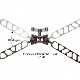 Pince de serrage rapide clamp i-Das / boule 25mm 60°