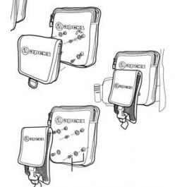 Kit de 5 Vis de fixation poches WTX