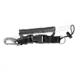 Spirale extensible câble armé avec mousqueton et anneau inox 26.5 à 150 cm