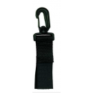 Accroche Flexible nylon avec petit mousqueton tournant