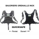 Baudrier souple QuickSafe en grenaille inox 6kg