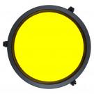 Filtre jaune pour hublots reflex plat pour la fluorescence IKELITE