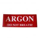 Étiquette ARGON « ne respirez pas! »