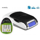 chargeur Nx Ready 4 accus + prise allume cigare + USB +  ACCUS AA NiMh