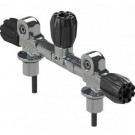 Manifold Robinet Bi 232 Bar 144 mm avec robinet isolation APEKS