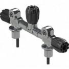 Manifold Robinet Bi 300 Bar 144 mm avec robinet isolation APEKS