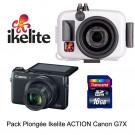 Pack caisson Ikelite Action + Appareil Canon G7X+Carte SD16 GO Cl. 10- Photo Tek