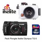 Pack Olympus TG-5 caisson IKELITE avec LG1