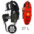 Pack 27 litres Confort Harness III Signature System Wing Deep Ocean OMS