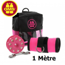 Pack sécurité Rose: parachute palier 1m ouvert + dévidoir 23m + sacoche