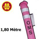 Parachute de palier ouvert OMS 1,8 m rose à purge SLIM