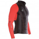 Lycra PERFORMANCE SHARKSKIN Manches Longues Rouge Homme