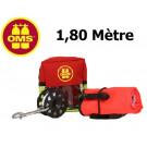 Pack sécurité: Parachute palier Ouvert 1,8m Spool et sacoche OMS