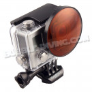 Dôme 55mm + filtre rouge pour GoPro Hero3/3+/4