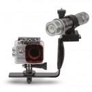 Pack Caméra BECAM + Lampe Faisceau Réglable 700 Lumens avec Platine et Poignée