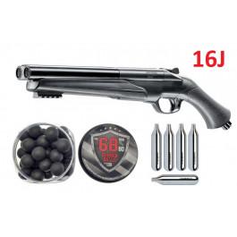 Pack Fusil Défense 16J T4E HDS Cal.68  + 100 Billes caoutchouc + 5 cartouches CO2