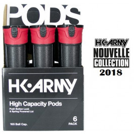 Pack 6 Pots HK Army Black Red (Collection 2018)