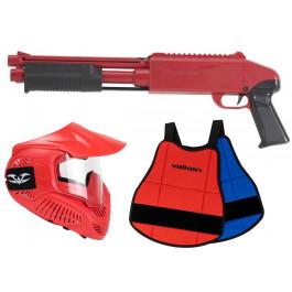 Pack Fusil Paintball Enfant Z200 Rouge