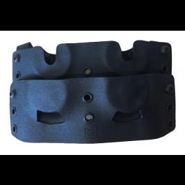 Porte chargeurs 4 barillets en Kydex pour HDR 50 Fixation Malice clips - Black
