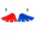 Pack 10 Brassards Velcro Rouges et Bleus