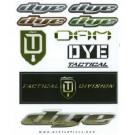 Planche stickers autocollants Dye Dam