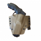 Holster Kydex pour HDR 50 avec Malice Clips Gaucher - Tan