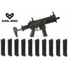 Pack lanceur Milsig M17 SMG Black + 10 chargeurs