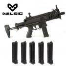 Pack lanceur Milsig M17 SMG Black + 5 chargeurs