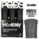 Pack 6 pots HK Army Black (Collection 2018)