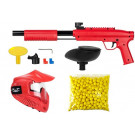 Pack paintball enfant Gotcha Rouge + 500 Billes
